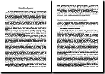 L'article 221 du Code civil