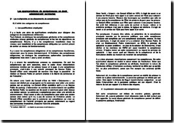 Les appropriations de compétences en droit administratif territorial