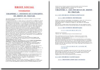Droit social en Droit du travail