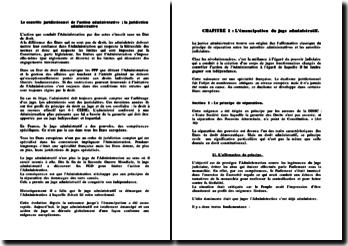 Le contrôle juridictionnel de l'action administrative ; la juridiction administrative
