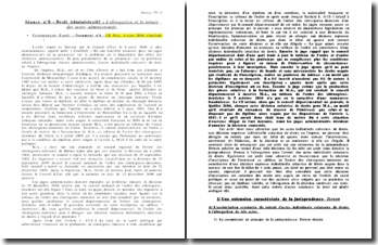 Commentaire d'arrêt - Document n 6 - CE, Sect., 6 mars 2009, Coulibaly
