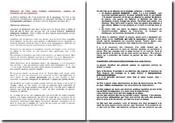 Définition de l'Etat selon Hobbes: présentation, analyse du Léviathan par sa couverture