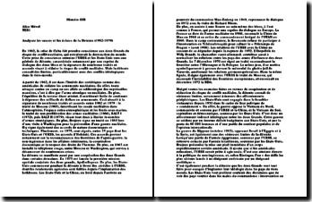 Analyse des succès et des échecs de la détente (1962-1979)