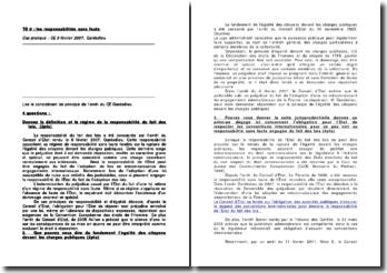 Question-réponse sur base de l'arrêt du Conseil d'État, Gardedieu: les responsabilités sans faute