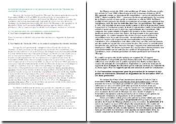 Le système de promotion et de protection des droits de l'homme du conseil de l'europe