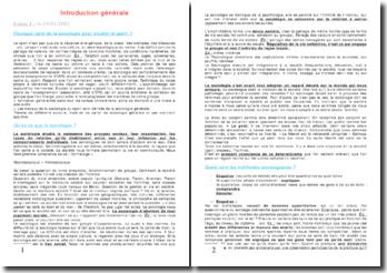 Introduction générale à la sociologie