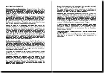 Histoire du droit constitutionnel francais
