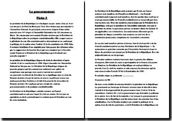 Le gouvernement francais