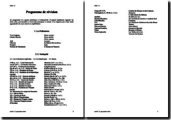 Programme de révision d'Histoire: Préhistoire et Antiquité