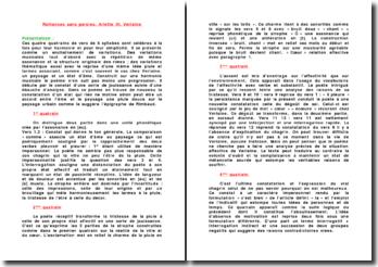 Romances sans paroles, Ariette III, Verlaine