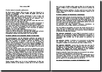 La monarchie parlementaire de l'ancien régime francais