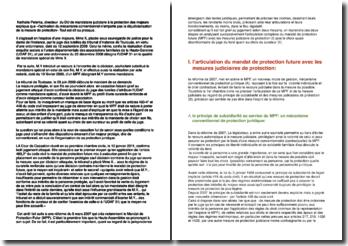 Cour de cassation, chambre civile, 12 janvier 2011 : Le mandat de protection future (MPF)