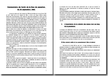 Cour de cassation, chambre civile, 29 septembre 1982 : Le divorce par consentement mutuel