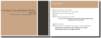 Les 7 étapes d'un business model