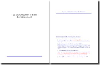 Le MERCOSUR et le Brésil