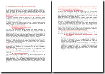 La Constitution expression du pouvoir constituant