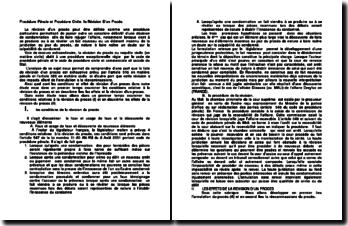 Procédure pénale et procédure civile: la révision d'un procès au Mali