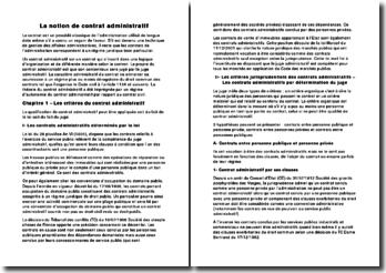 La notion et les critères du contrat administratif
