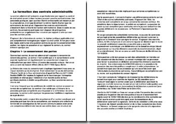La formation des contrats administratifs