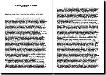 Le Miracle de Théophile - Rutebeuf : les forces du Mal et la dynamique de la pièce