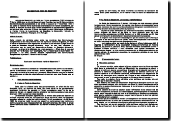 Les apports du traité de Maastricht