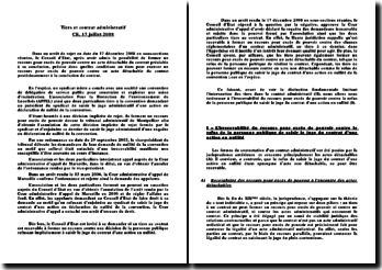 CE, 17 juillet 2008: tiers et contrat administratif