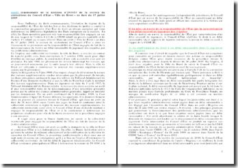 Commentaire de la décision n 295653 de la section du contentieux du Conseil d'Etat «Ville de Brest» en date du 17 juillet 2009