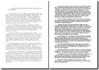 La loi du 2 mars 1982, l'interventionnisme des collectivités territoriales?