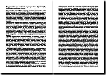 Cinq propositions pour une théorie du paysage: Berque (A.,) Conan (M.), Donadieu (P.), Lassus Roger (A.), 1994