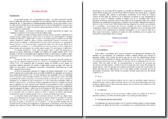 La procédure pénale: sources et principes, poursuite, information et jugement