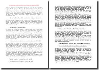 La doctrine vaticane face à la crise des années 1930