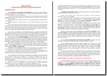 Consommation, distribution et instruments de paiement