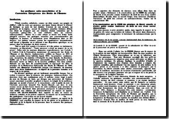 Les pratiques sado-masochistes et la Convention Européenne des Droits de l'Homme