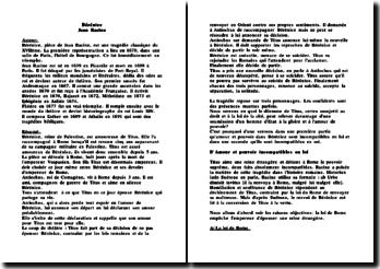 Bérénice - Jean Racine: le dilemme de Titus