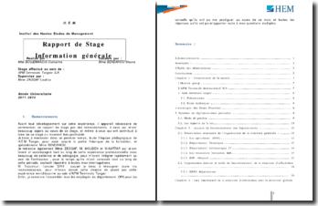 Rapport de stage effectué au sein de APM Terminals Tangier SA sur le système de réglementation portuaire