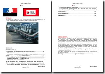 Externalisation de la flotte automobile (Fleet management) de l'Etat français avec le prestataire ALD Automotive