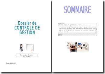 Le rôle d'un contrôleur de gestion au sein du département du développement professionnel chez France Telecom