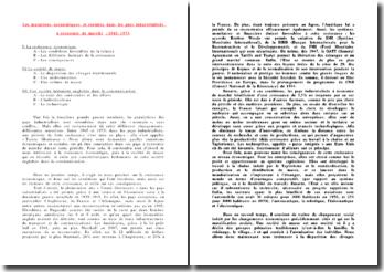 Les mutations économiques et sociales dans les pays industrialisés à économie de marché : 1945-1973
