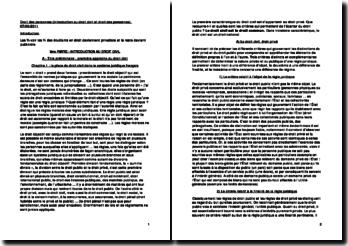 Droit des personnes (introduction au droit civil et droit des personnes)