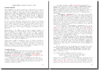 Commentaire de texte, Claude Hagège, L'homme de Paroles, 1985