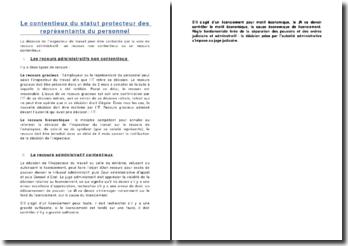 Le contentieux du statut protecteur des représentants du personnel