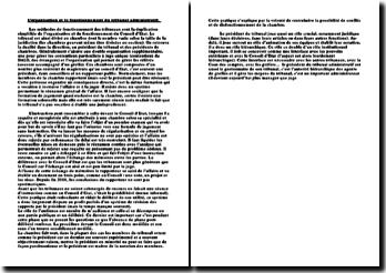 L'organisation et le fonctionnement du tribunal administratif