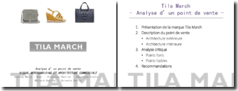 Visual merchandising et architecture commerciale: analyse du point de vente de Tila March