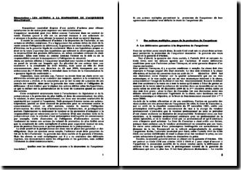 Dissertation : les actions a la disposition de l'acquereur insatisfait