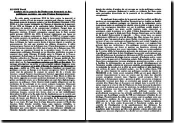 Analyse de la pensée du Professeur Geremek et des politiques sociales au sein l'Union Européenne