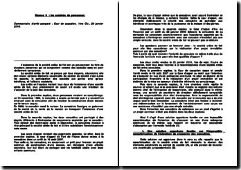 Commentaire comparé d'un arrêt de la première Chambre civile de la Cour de cassation rendu le 20 janvier 2010: les sociétés de personnes