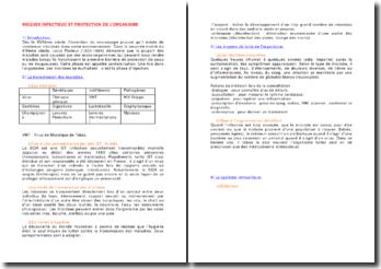 Les risques infectieux et la protection de l'organisme