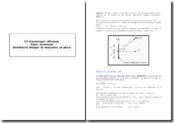 Distribution linéique de monopôles en phase