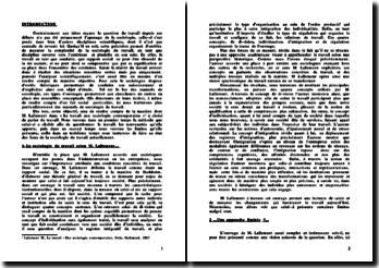 Le travail, une sociologie contemporaine - M. Lallement