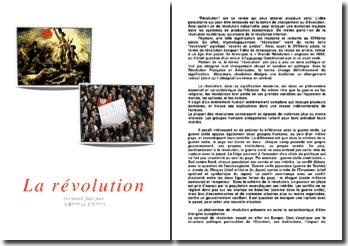 Le phénomène de révolution